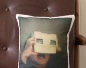 Polaroid 'Joy' Cushion - 30cm x 35cm - Cotton-Linen