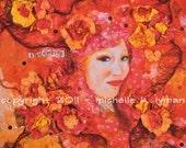 Vibrance -  Mixed Media 12x12 Giclee Print on Rag Paper