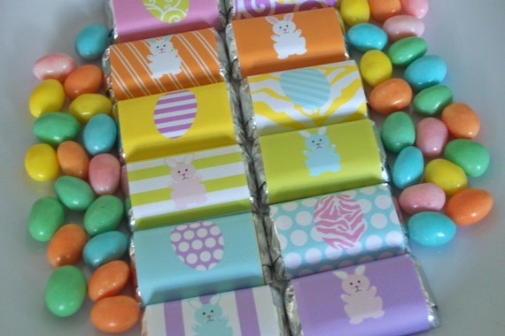 SALE 50% OFF Easter Mini Candy Bar Wrappers, Egg Hunt Printable Mini Chocolate Bar Wraps, Instant Download