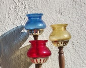 1970's Groovy Candle Holders set of 3 - Japan