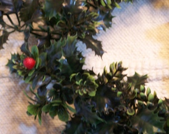 The UGLY plastic wreath, Retro Holiday Wreath, Plastic Christmas wreath, circa 1950, Faux door wreath...