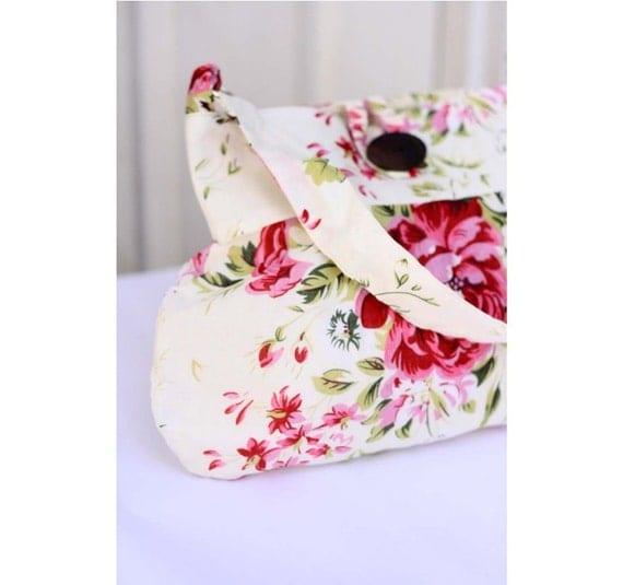 Summer Bag, Shoulder Bag, Hobo tote bag - Red and Pink Rose,
