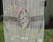 Gorgeous, large vintage, possibly antique French curtain.