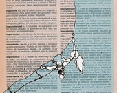 """rock climbing. """"no impossible"""". dictionary page/ typographic print/ motivational print/ archival print"""