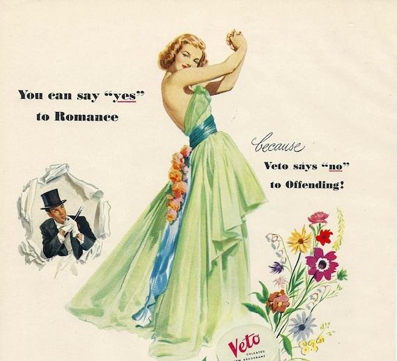 Fashion Magazine Ad, 1948 Glamour Magazine, Paper Ephemera, Advertising, Original Not a Reproduction