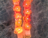 Yellow and Orange rosette bra straps