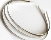 25pcs..Thin 3mm(0.118 inches or close to 1/8 inches) Metal(Steel) Headband w/ Bent Ends