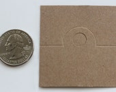 Blank Design Brown Kraft Paper Fold Over Card for Jewelry and Accessories..200pcs