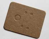 Brown Kraft Paper Earrings Card for Jewelry and Accessories..200pcs Blank Design Small