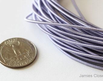 1.8mm Thickness Elastic-10 Yards-Purple-Satin Elastic (5YardX2strands)