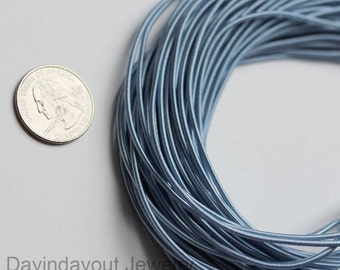 1.8mm Thickness Elastic 10 Yards Blue Satin Elastic (5YardX2strands)