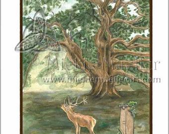 The Oak Card Giclee Print