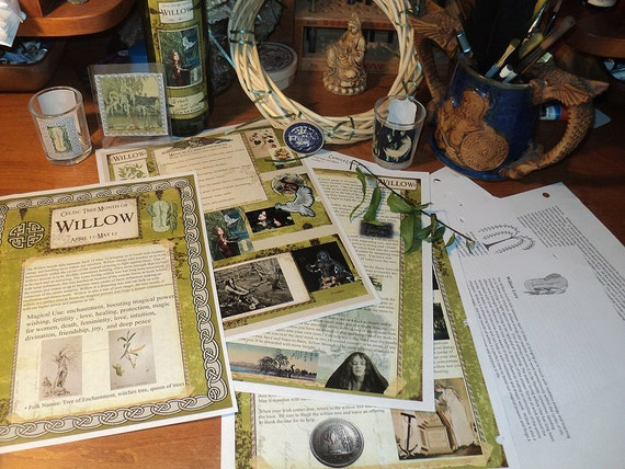 Celtic Tree Calendar Series: Willow Month April 15- May12