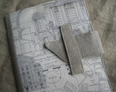 iPad. iPad 2, iPad 3 cover with vintage architectural drawings and folding stand -free shipping (in the U.S)