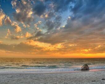 Sunset at Aquinnah, Moshup Trail beach 2 - Fine Art Print