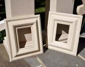 Pair of Distressed Antique White Frames -5x7- READY TO SHIP