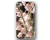 Lilies of the Valley, iPhone 5 4 4s Case, Pastel Pink, Floral, Cell Phone Case, Accessory for iPhone 5 4 4s