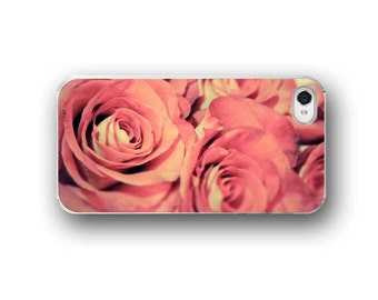 Pink Roses, iPhone 6  iPhone 5 4 4s Case, Pastel Roses, Floral Photography, Cell Phone Case, Accessory for iPhone 6  iPhone 5 4 4s
