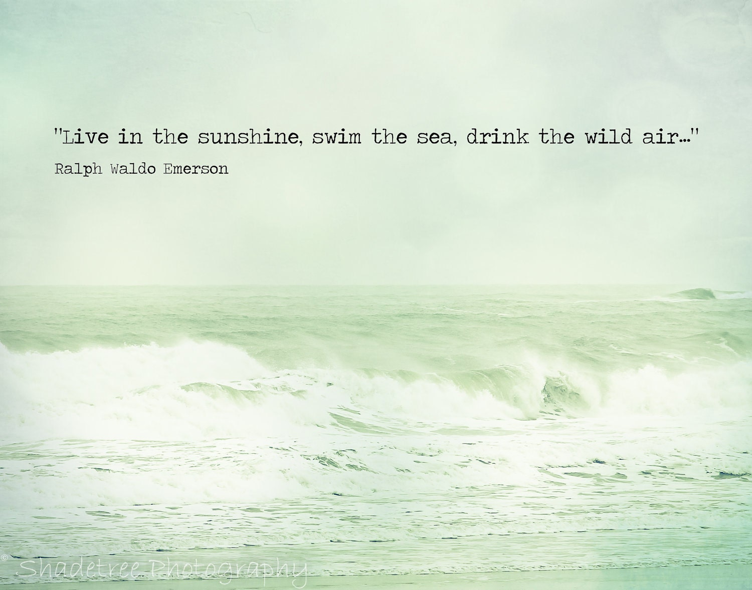 Quote About The Sea: Beach Quote Ocean Photography Ralph Waldo By