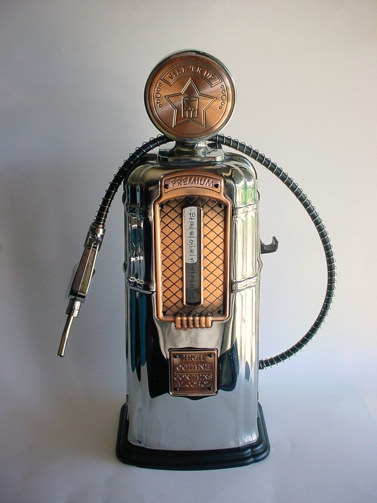 Godinger Gas Pump Decanter Fill Er Up