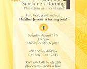 Sunshine Birthday Invitation  (Digital File Only)