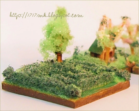 My Micro house  - garden maze hedge - miniature - house for dollhouse ...
