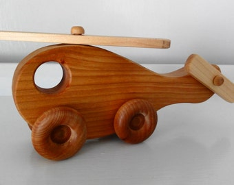Handmade Wooden Toy Helicopter