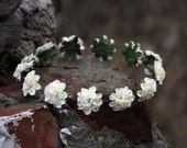 Secret garden fabulous romantic ivory fairy rose crown headband, head piece