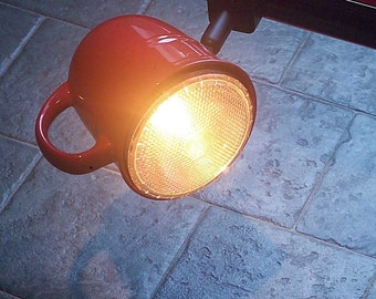 Track Light, Coffee mug, Track head. Coffee Tea cup.