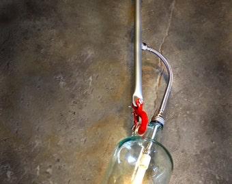 Pendant Light, Wine jar, Wine jug, Wine bottle. Lamp.