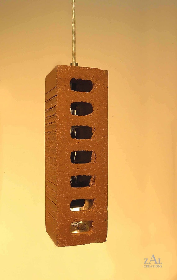 Pendant light, Red clay Brick.