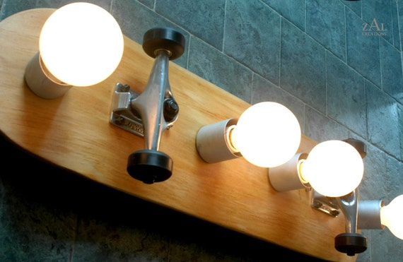Vanity Light Skateboard Bathroom Light Fixture. By