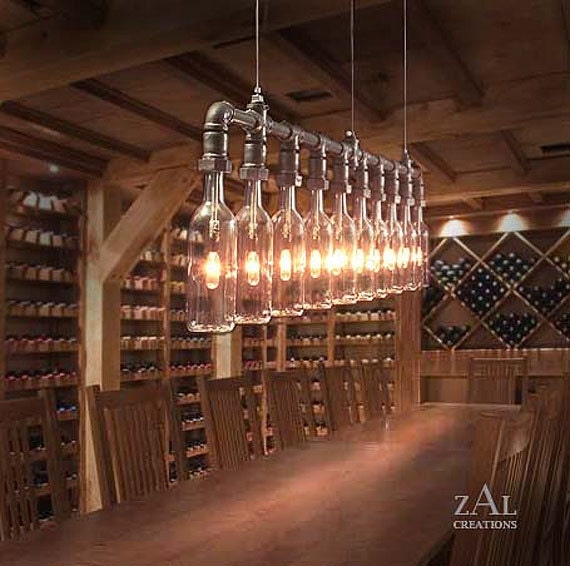 Pendant light wine beer bottles suspension lamp - Wine bottle pendant light ...