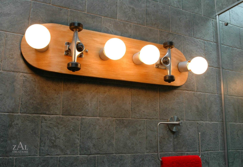 Skateboard Lamps vanity light skateboard bathroom light fixture. wall light.