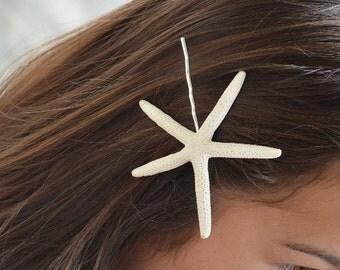 Seashell Hair Accessories ... Starfish Bobby Hairpin (0107)