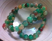 8mm Watermelon Jade beads full strand