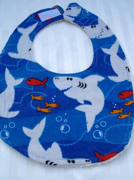 Baby Bib with Sharks