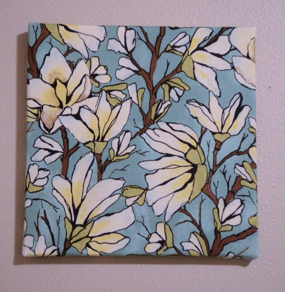 Fabric Covered Wall Art : Items similar to custom wall art fabric covered canvas