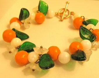 oranges fruit salad bracelet