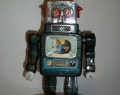 Reserved for Julius 1960s Toy Robot Alps Television Spaceman Japan Near Mint w/ Original Box