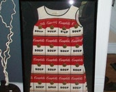 Reserved 1960s Andy Warhol Campbell Soup Paper Dress Featured on PBS Antiques Roadshow