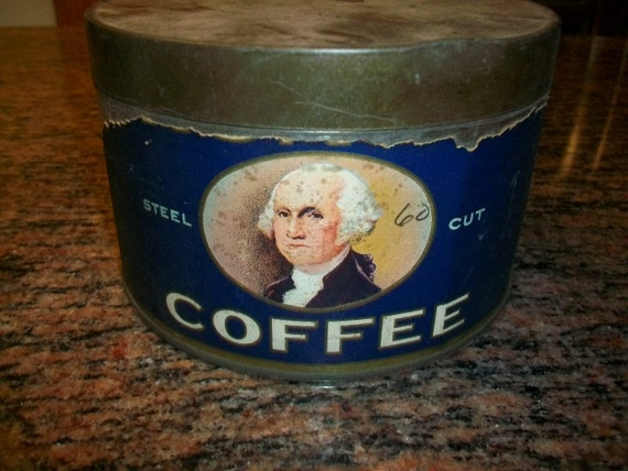 Vintage 1930s Tin George Washington Coffee