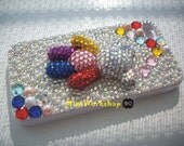 Bling Rainbow Bear iPhone 4 case
