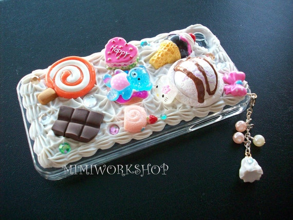 Sweet Deco Blue bear iPhone 4 case