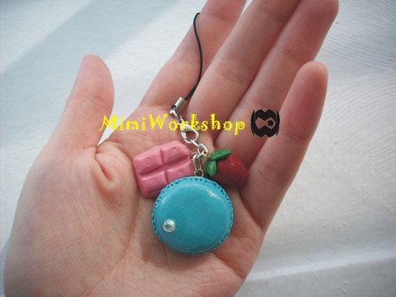 Macaron Charm Pendant with gift box