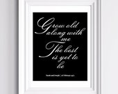 Personalized First Wedding Anniversary Present, Paper Anniversary Gift, Fiance Gift. Unframed 8x10 Anniversary Print.