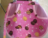 Pink Girl Scout Cookie Apron Size 7/8