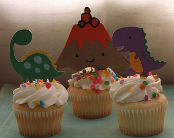 Dino-myte Cupcake Toppers
