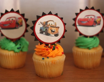 Disney Cars cupcake toppers