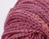"Handspun Art Yarn ""Pink Spring"" two ply, weight: 120 g / 4,23 oz  WINTER PROMOTION"